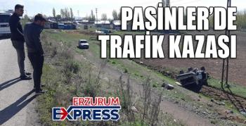 Pasinler'de trafik kazası