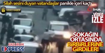 Sokak arasında silahlı kavga