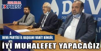 Vahit Bingöl: Erzurum'un adı büyük kendi küçük kaldı