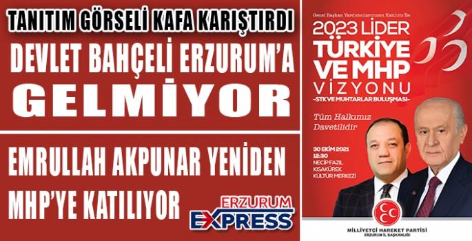 MHP GENEL MERKEZİ, ERZURUM'DA STK'LARLA TOPLANTI YAPACAK
