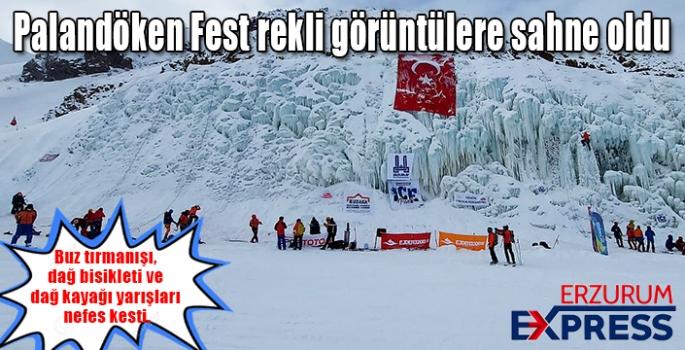 Sporseverler Palandöken'de hem yarıştı hem eğlendi