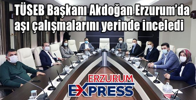TÜSEB Başkanı Akdoğan aşı çalışmalarını yerinde inceledi