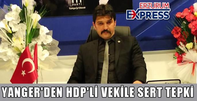 YANGER'DEN HDP'Lİ VEKİLE SERT TEPKİ