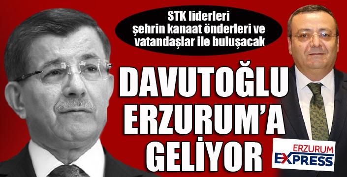 Ahmet Davutoğlu Erzurum'a geliyor...
