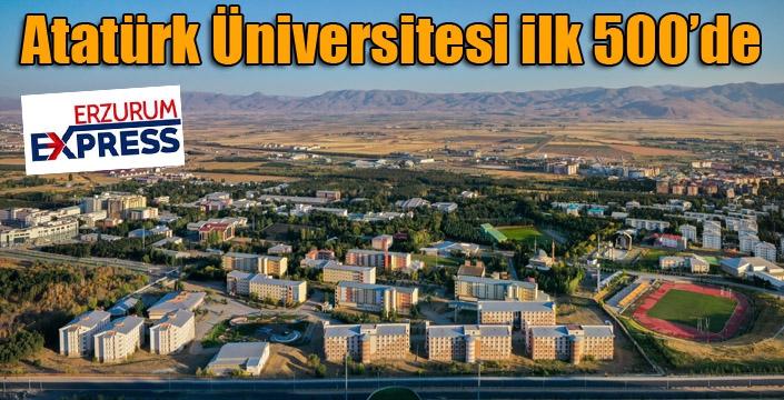 Atatürk üniversitesi ilk 500 içinde yer aldı