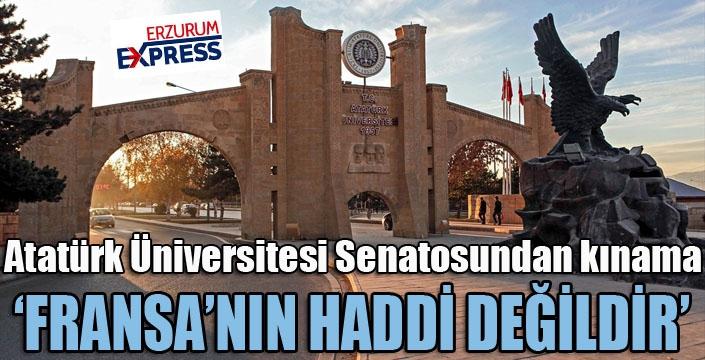 Atatürk Üniversitesi Senatosundan kınama mesajı