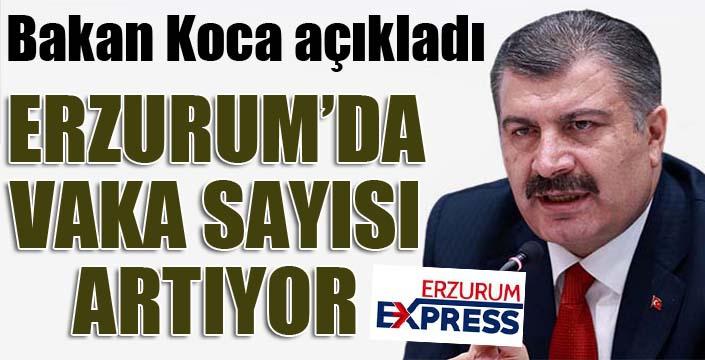 Bakan Koca açıkladı: Erzurum'da vaka sayısı artıyor...