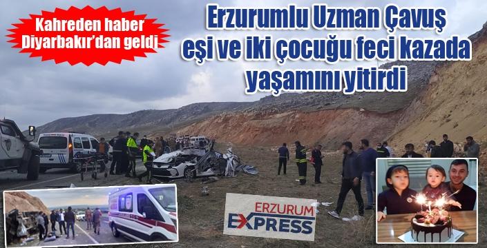 Diyarbakır'da feci kaza... Erzurumlu Uzman Çavuş ve ailesi yaşamını yitirdi...