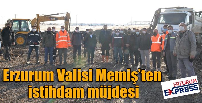 Erzurum Valisi Memiş'ten istihdam müjdesi