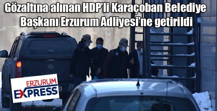 HDP'li Karaçoban Belediye Başkanı adliyede...