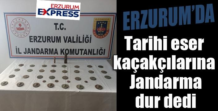 Jandarma tarihi eser kaçakçılarını yakaladı